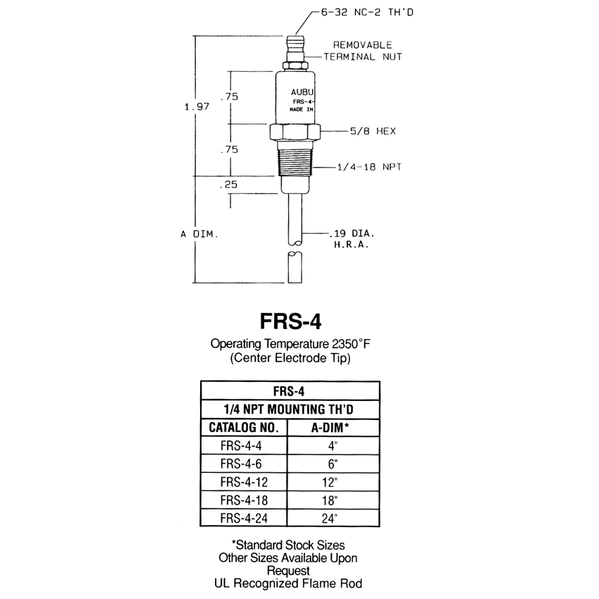 flame rods results page 1 stromquist & company 3-way wiring diagram flame rod wiring diagram #35