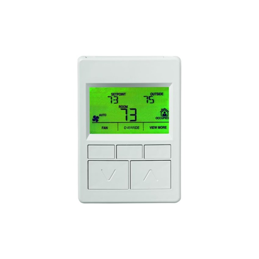 with Switches Setpoint Dial with Display Without Fan Control with Logo Without VAV Feature 120mm x 80mm Size with Scale Toggle Temp Network Sensor