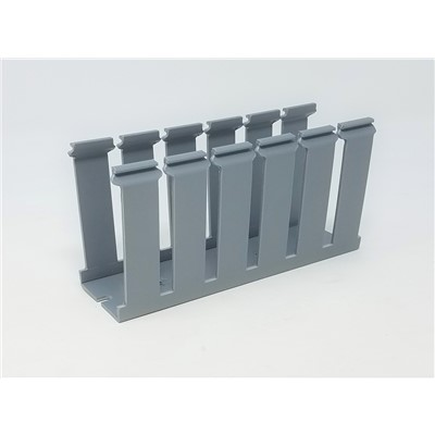 1x2 Wire Duct w/ Cover - Grey